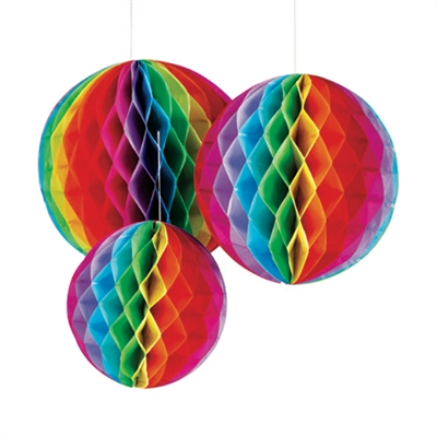 Hanging Honeycomb Decorations (6 per pack)